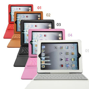 PU,Leather,Stand,Case,Cover,With,Wireless,Bluetooth,Keyboard,For,Apple,iPad,4,3,2