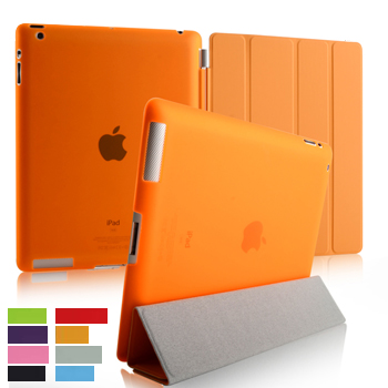 Ultrathin Dormant Protector 3 Folded Cover Case for iPad 2,3,4