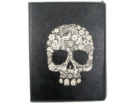 Cool skull Flip Smart Case Magnetic Cover sleep stand for iPad 2/3/4