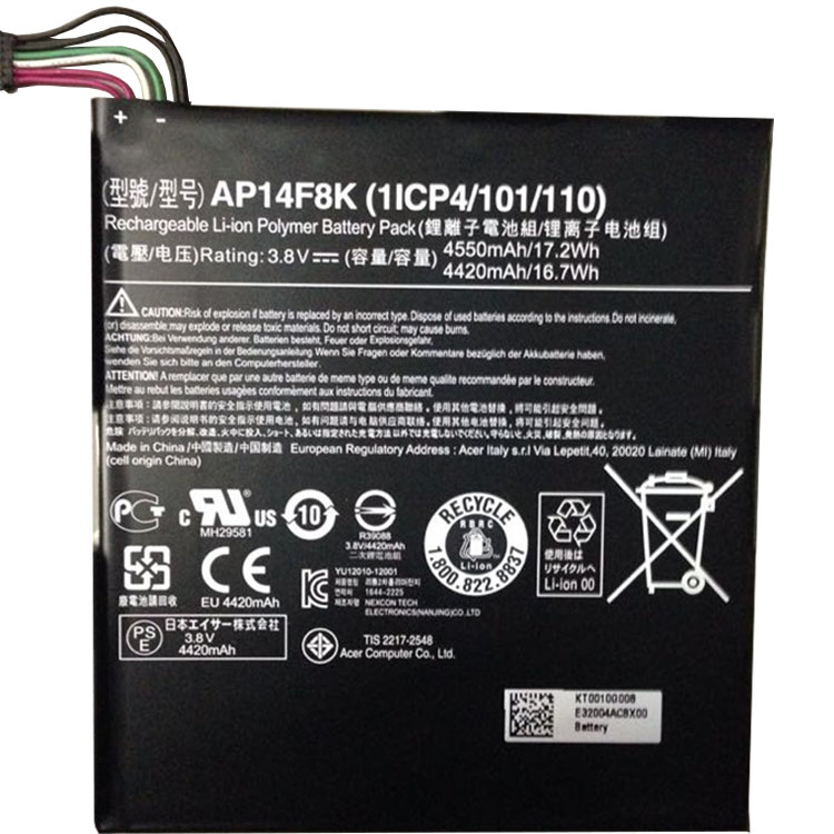 Acer Iconia Tab A1-8 laptop battery