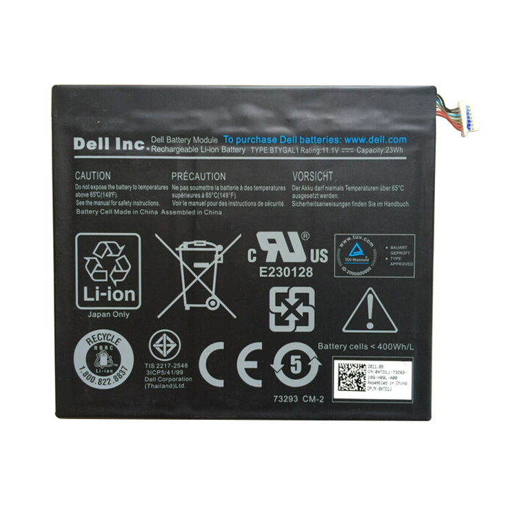 DELL BTYGAL1 T03G TO laptop battery